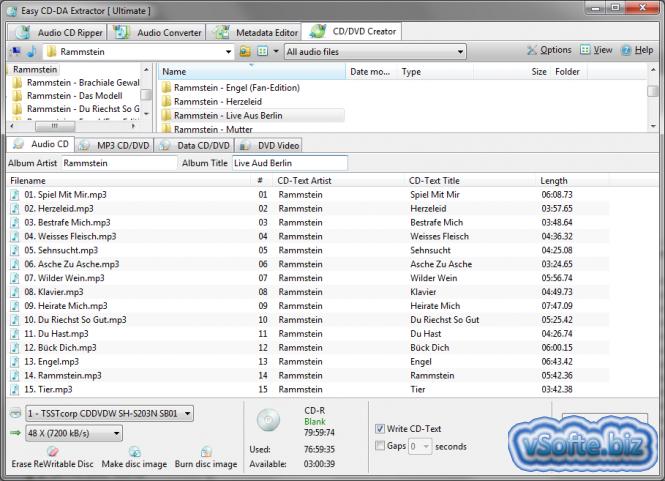 Easy CD-DA Extractor - программа для преобразования аудио-CD Скачать Ea