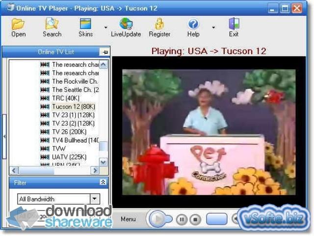 Скачать ovt tv player для просмотра тв онлайн на компьютере.