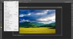 Выпадающее меню Photoshop CS6