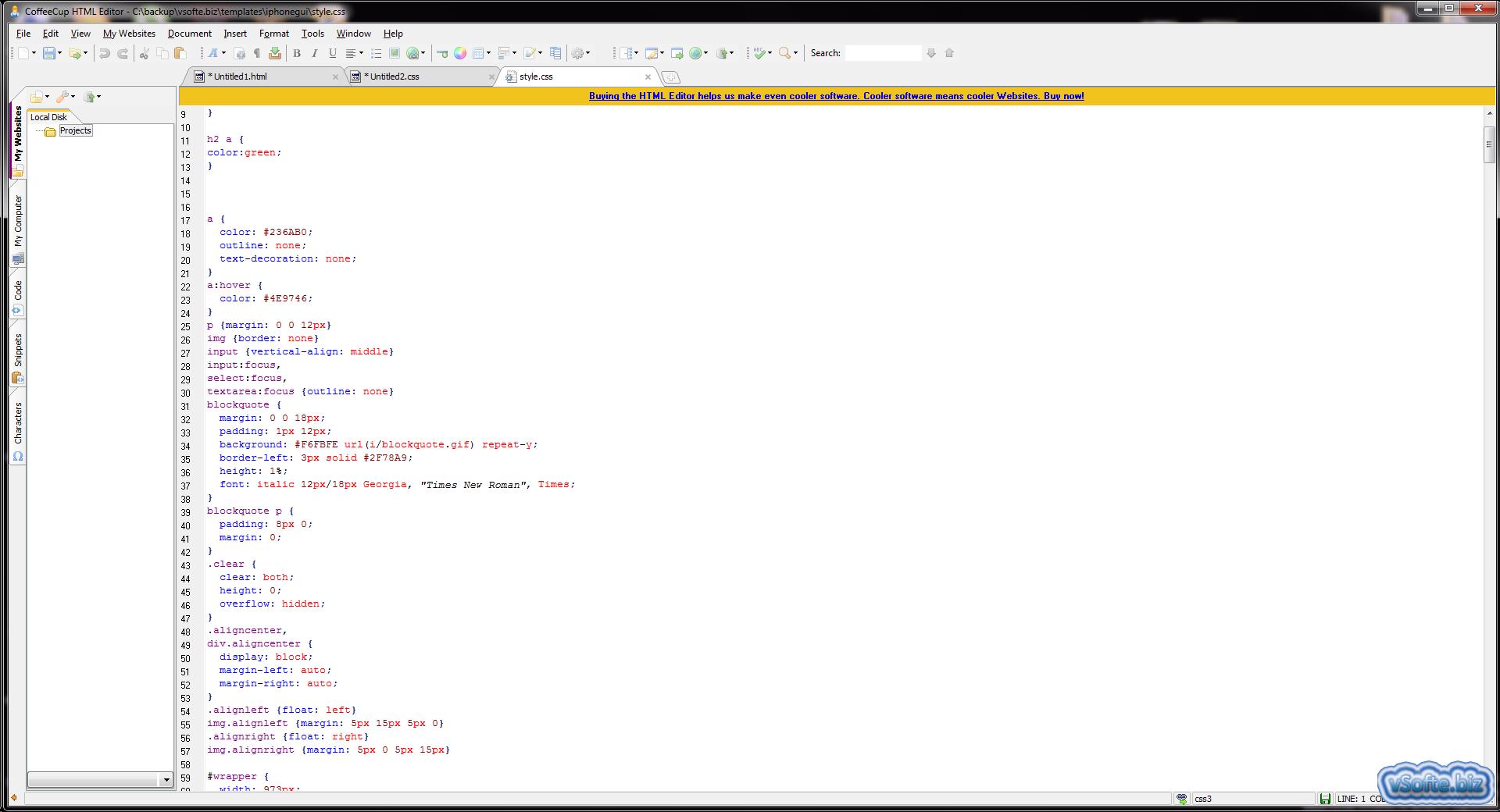 CoffeeCup HTML Editor скачать бесплатно