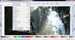Меню в Inkscape