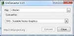 UniConvertor окно программы